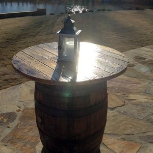 "36"" Whiskey Barrel Table"