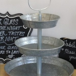 Galvanized Serving Stand